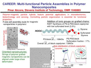 Oriented nanostructures:  Strings of polymer grafted  magnetic nanoparticles can be