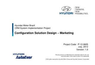 Hyundai Motor Brazil  CRM System Implementation Project