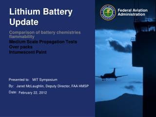Lithium Battery Update