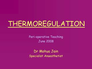 THERMOREGULATION