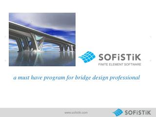 a must have program for bridge design professional