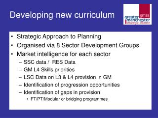 Developing new curriculum