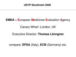 UEVP Stockholm 2009