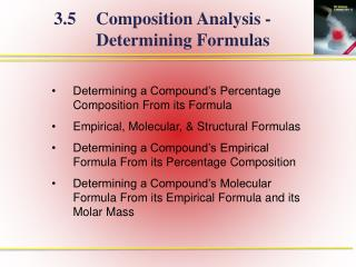 Determining a Compound's Percentage Composition From its Formula