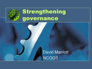 Strengthening governance