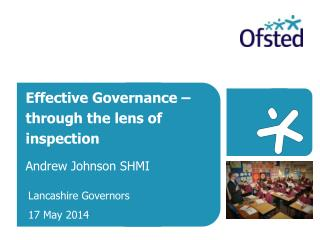 Effective Governance – through the lens of inspection Andrew Johnson SHMI