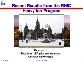Recent Results from the RHIC Heavy Ion Program
