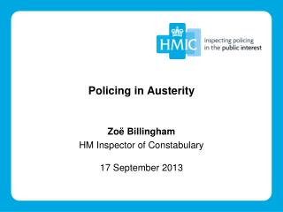 Policing in Austerity