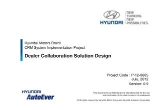 Hyundai Motors Brazil  CRM System Implementation Project