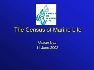 The Census of Marine Life