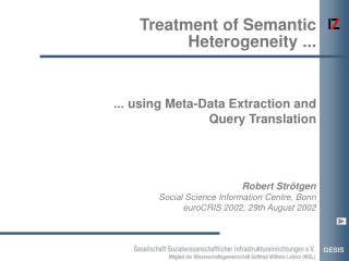 Treatment of Semantic Heterogeneity ...