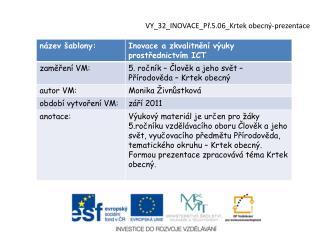 VY_32_INOVACE_Př.5.06_Krtek obecný-prezentace