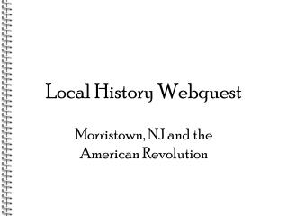 Local History Webquest