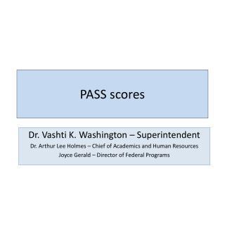 PASS scores