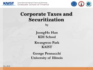 Corporate Taxes and Securitization