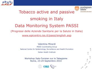 Valentina Minardi PASSI Coordinating Group