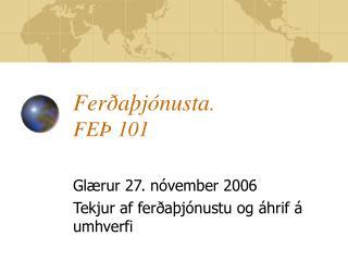 Ferðaþjónusta . FEÞ 101