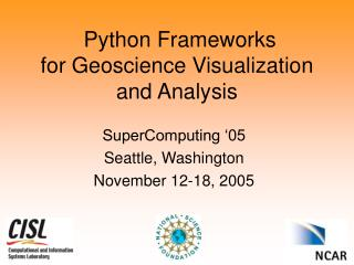 Python Frameworks for Geoscience Visualization and Analysis
