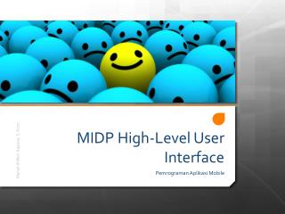 MIDP High-Level User Interface