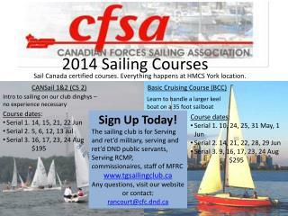 2014 Sailing Courses
