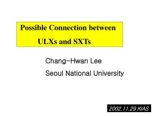 Possible Connection between            ULXs and SXTs