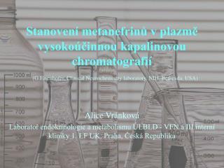 Stanovení metanefrinů v plazmě vysokoúčinnou kapalinovou chromatografií