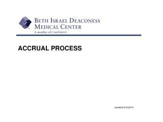 ACCRUAL PROCESS