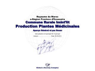 Production Plantes Médicinales