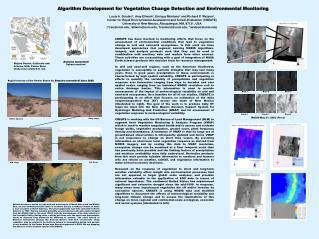 Algorithm Development for Vegetation Change Detection and Environmental Monitoring