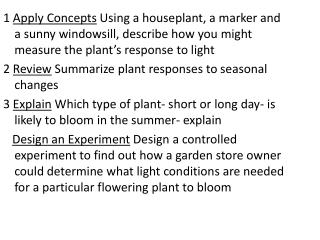 Ch 24 Plant Reproduction and Response