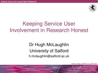 Keeping Service User Involvement in Research Honest