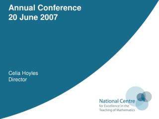 Annual Conference 20 June 2007