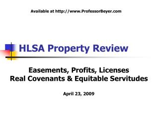 HLSA Property Review