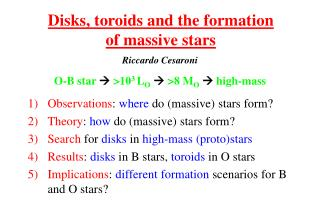 Disks, toroids and the formation of massive stars