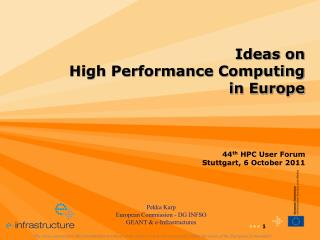 Ideas on  High Performance Computing in Europe