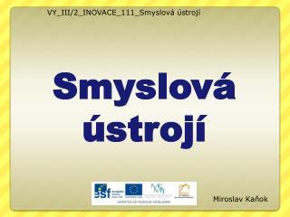 VY_III/2_INOVACE_111_Smyslov� �stroj�