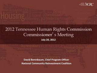 2012 Tennessee Human Rights Commission Commissioner ' s Meeting