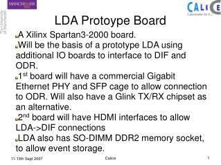 LDA Protoype Board