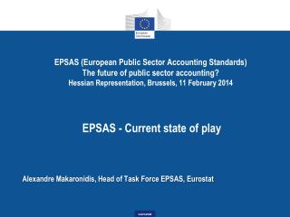 Alexandre  Makaronidis , Head of Task Force EPSAS, Eurostat