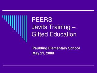 PEERS Javits Training   Gifted Education