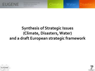Approach for a European GEO strategy framework