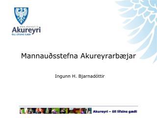 Mannauðsstefna Akureyrarbæjar