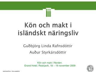 Kön och  makt i  isländskt näringsliv