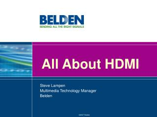 All About HDMI