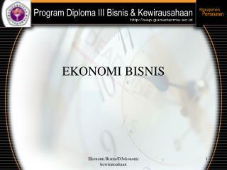 EKONOMI BISNIS