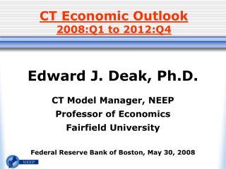 CT Economic Outlook 2008:Q1 to 2012:Q4
