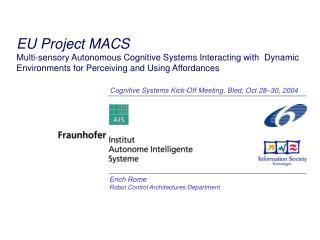 Erich Rome Robot Control Architectures Department