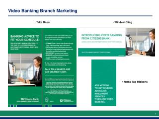 Video Banking Branch Marketing