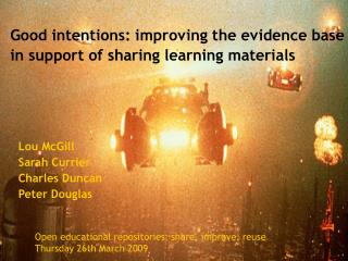 Good intentions: improving the evidence base in support of sharing learning materials