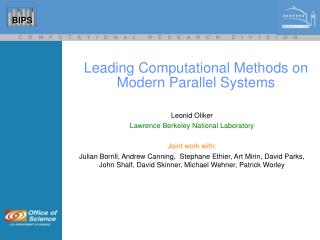 Leading Computational Methods on Modern Parallel Systems